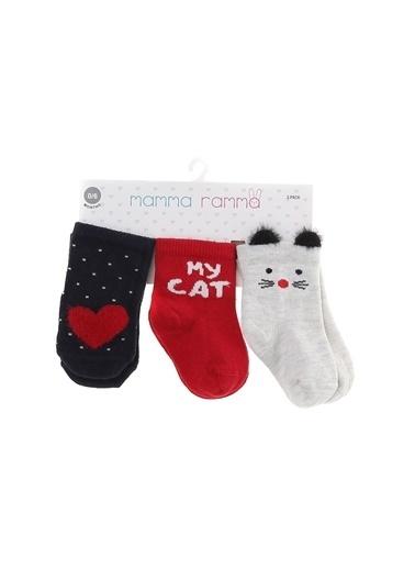 Mammaramma Mammaramma Kırmızı Soket Çorap Kırmızı